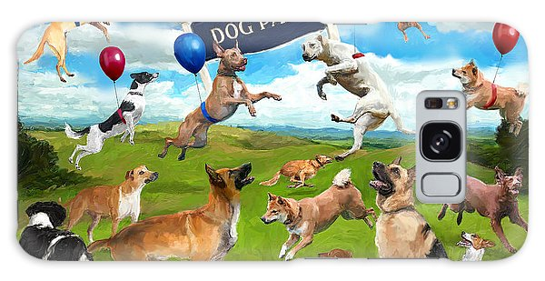 Dog Park Party Galaxy Case