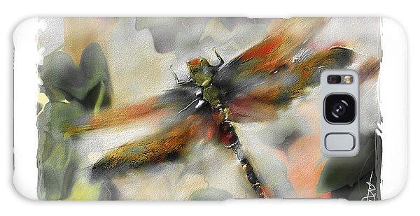 Impressionism Galaxy S8 Case - Dragonfly Garden by Bob Salo