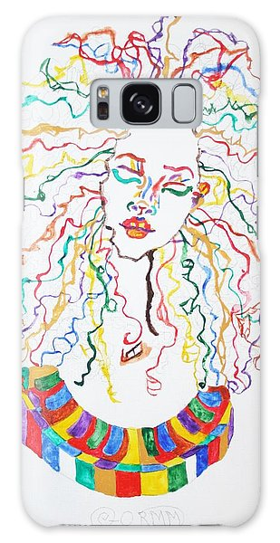 Dreadlocks Piano Goddess Galaxy Case