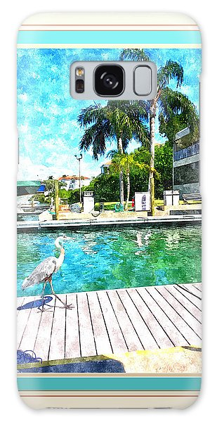 Dry Dock Bird Walk - Digitally Framed Galaxy Case