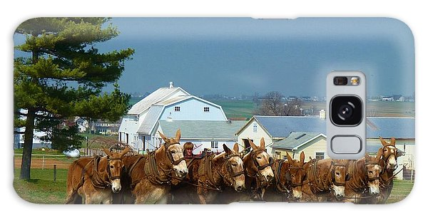 Eight Horse Hitch Galaxy Case by Jeanette Oberholtzer