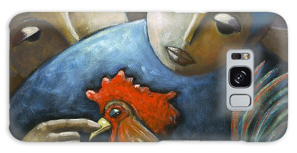 Galaxy Case featuring the painting El Gallo by Oscar Ortiz
