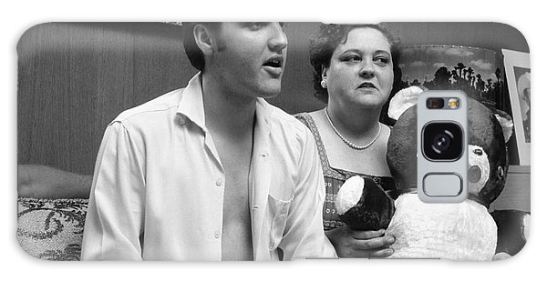 Elvis Presley Galaxy Case - Elvis Presley And His Mother Gladys 1956 by The Harrington Collection