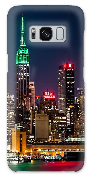 Empire State Building On Saint Patrick's Day Galaxy Case