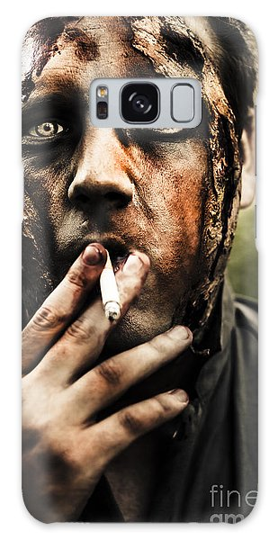 Voodoo Galaxy Case - Evil Dead Zombie Smoking Cigarette Outside by Jorgo Photography - Wall Art Gallery