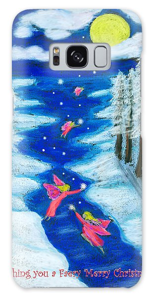 Faery Merry Christmas Galaxy Case by Diana Haronis