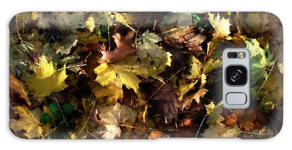 Fallen Leaves Galaxy Case by Ron Harpham