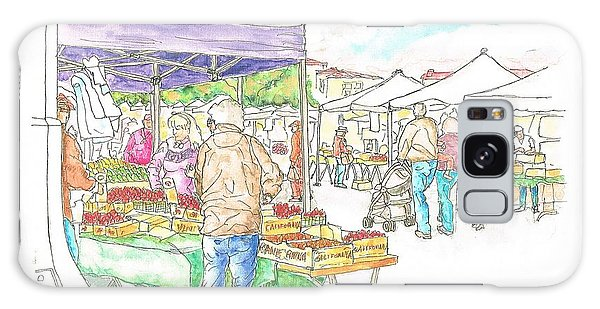 Farmers Market In Oxnard - California Galaxy Case by Carlos G Groppa