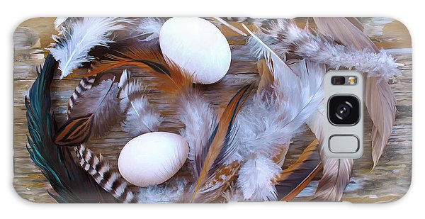 1. Feather Wreath Example Galaxy Case