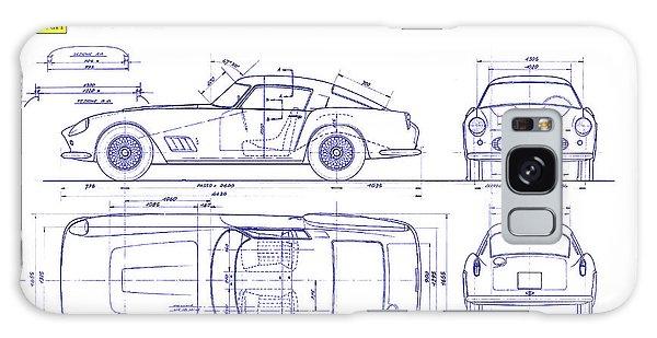 Blueprint Galaxy Case - Ferrari 250 Gt Blueprint by Jon Neidert