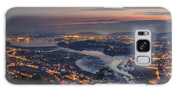 Ferrol's Ria Panorama From Mount Ancos Galicia Spain Galaxy Case by Pablo Avanzini