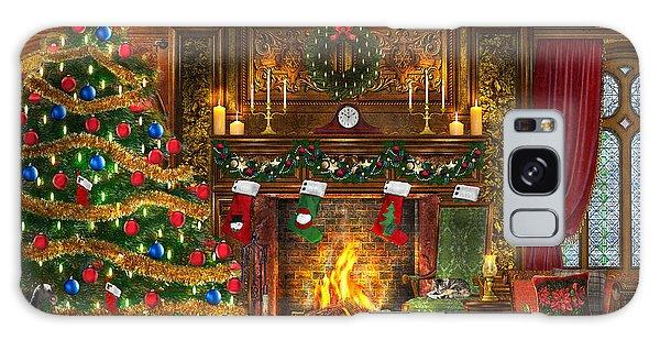 Horizontal Galaxy Case - Festive Fireplace by Dominic Davison