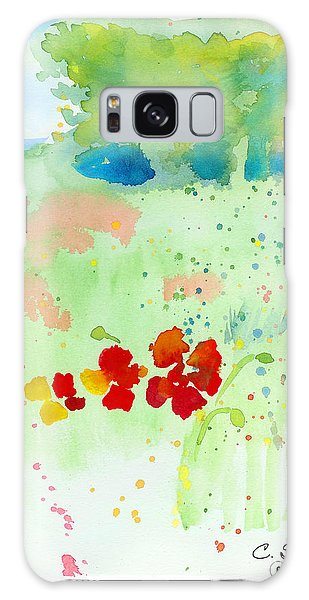 Field Of Flowers Galaxy Case