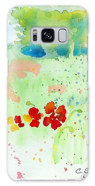 Field Of Flowers Galaxy Case by C Sitton