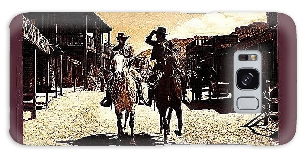Film Homage Mark Slade Cameron Mitchell Riding Horses The High Chaparral Old Tucson Az C.1967-2013 Galaxy Case
