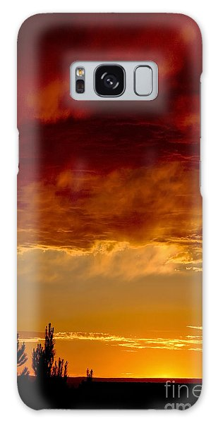 Fire In The Sky Galaxy Case by Gina Savage