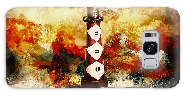 Beam Galaxy Case - Fire On Lighthouse Hill by Jorgo Photography - Wall Art Gallery