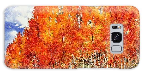 Flaming Aspens 2 Galaxy Case by Barbara Jewell