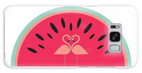 Flamingo Watermelon Galaxy Case by Susan Claire