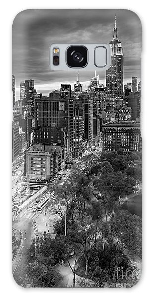 Galaxy Case featuring the photograph Flatiron District Birds Eye View by Susan Candelario