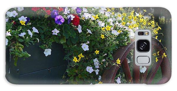Flower Cart In Banff Town Galaxy Case