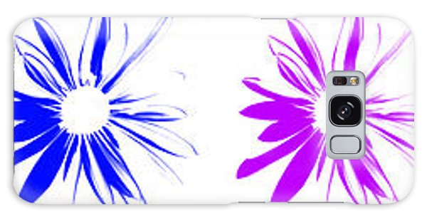 Flowers On White Galaxy Case