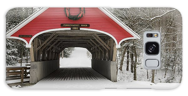 Flume Covered Bridge - White Mountains New Hampshire Usa Galaxy Case