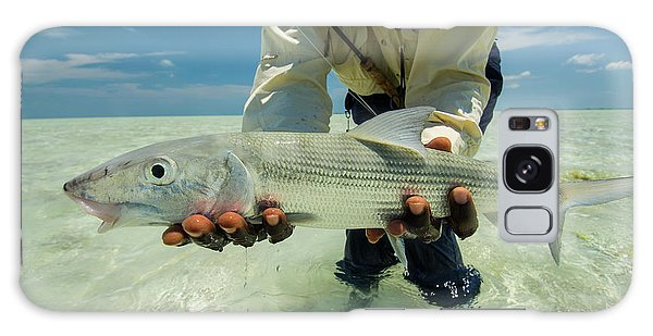 Islands In The Sky Galaxy Case - Fly Fishing In The Bahamas by Mark Lance