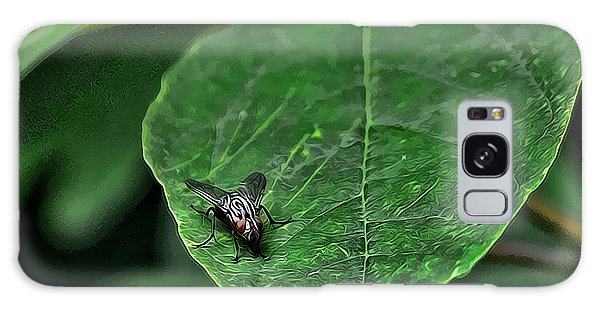 Fly On Leaf Galaxy Case