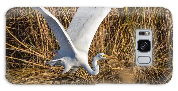 Flying White Egret Galaxy Case