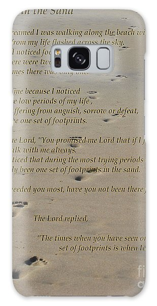Footprints In The Sand Poem Galaxy Case