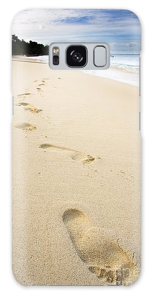 Phi Phi Island Galaxy Case - Footprints On Tropical Beach by Jorgo Photography - Wall Art Gallery