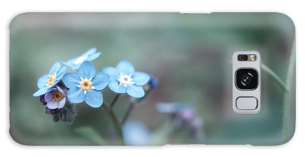 Forget Me Not Galaxy Case by Rachel Mirror