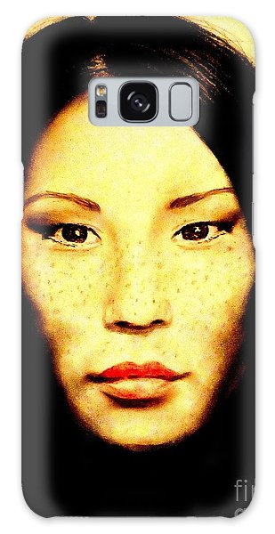 Freckle Faced Beauty Lucy Liu  Galaxy Case by Jim Fitzpatrick