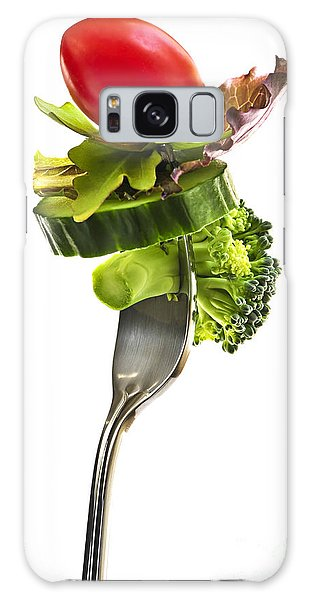 Fresh Vegetables On A Fork Galaxy Case