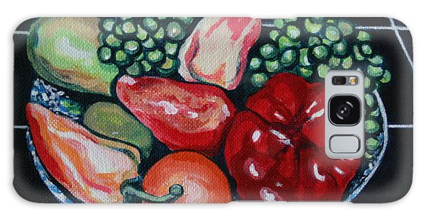 Fruit And Peppers Galaxy Case by Joyce Gebauer