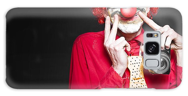 Amateur Galaxy Case - Fun Smiling Clown Holding Camera Taking Happy Snap by Jorgo Photography - Wall Art Gallery