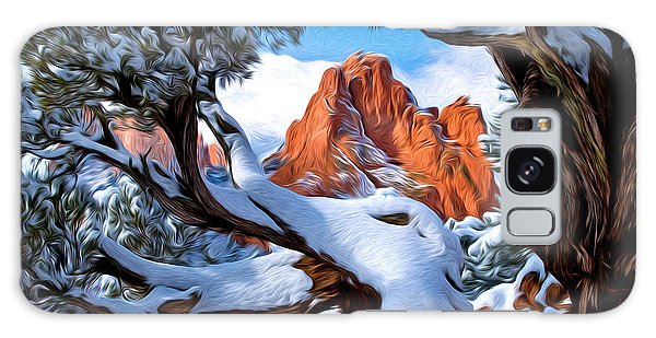 Garden Of The Gods Framed By Juniper Trees Galaxy Case