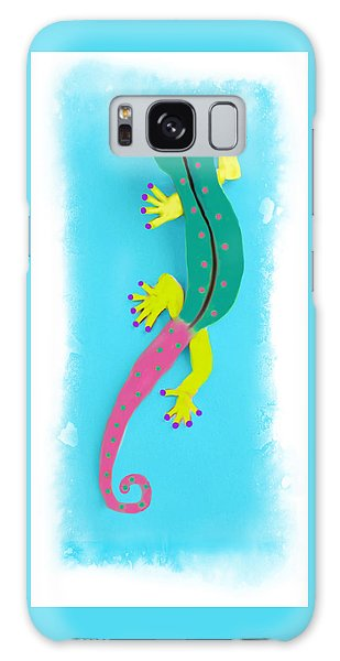 Galaxy Case featuring the mixed media Gecko Two by Deborah Boyd