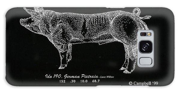 German Pietrain Boar Galaxy Case by Larry Campbell