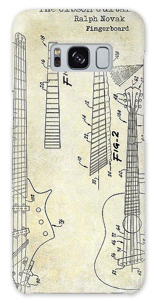 Blueprint Galaxy Case - Gibson Guitar Patent Drawing by Jon Neidert