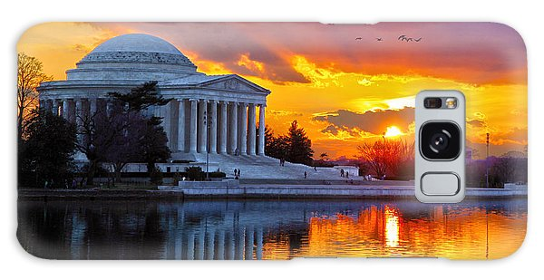 Jefferson Memorial Galaxy S8 Case - Glow by Mitch Cat