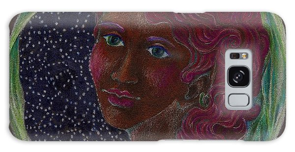 Goddess In The Window To The Sky Galaxy Case