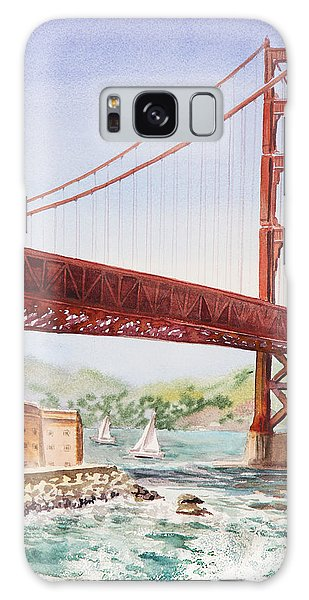 Outdoor Dining Galaxy Case - Golden Gate Bridge San Francisco by Irina Sztukowski