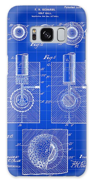 Golf Ball Patent 1902 - Blue Galaxy Case by Stephen Younts