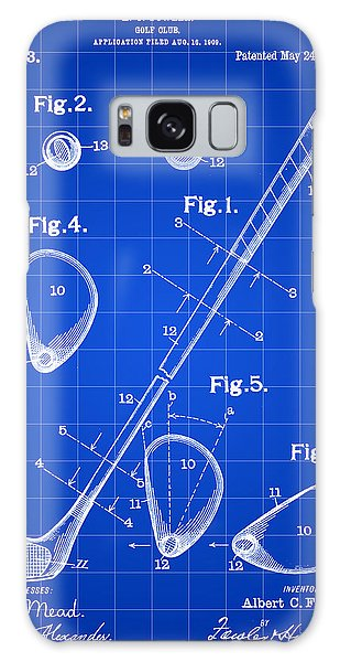 Golf Club Patent 1909 - Blue Galaxy Case by Stephen Younts