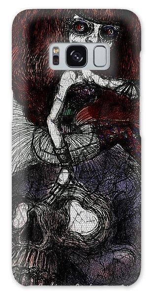 Gothic Girl And Skull Galaxy Case by Akiko Okabe