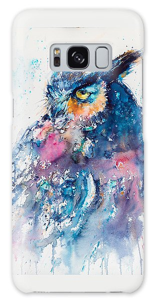 Owl Galaxy Case - Great Horned Owl by Kovacs Anna Brigitta
