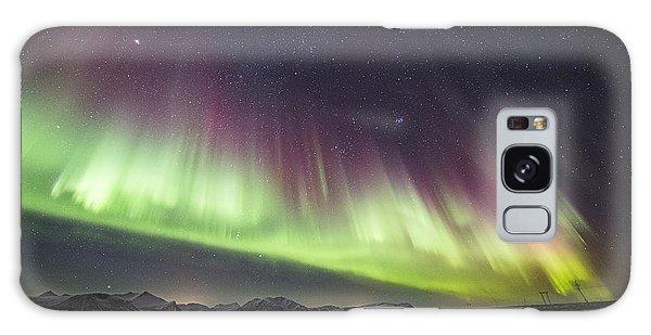 Green And Purple Auroras Galaxy Case