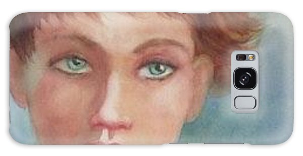 Green Eyes Galaxy Case by Marilyn Jacobson